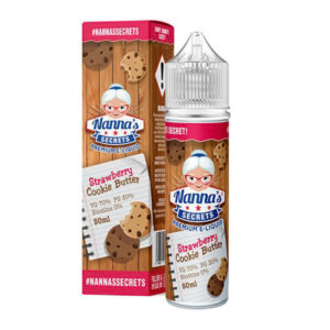 Strawberry Cookie Butter 50ml Eliquid Shortfill Bottles By Nanas Secrets