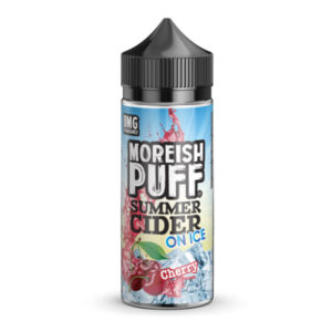 Cherry Summer Cider On Ice 100ml Eliquid Shortfill бутилка от Moreish облаче