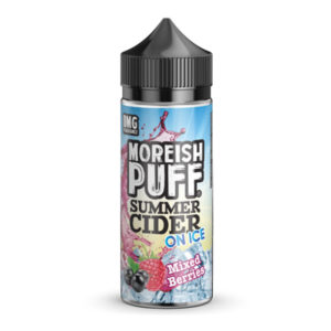 Mixed Berries Summer Cider auf Eis 100ml Eliquid Shortfill Bottle By Moreish Puff