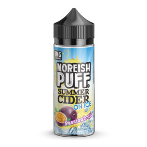 Passionfruit Summer Cider On Ice 100ml Eliquid Shortfill бутилка от Moreish облаче