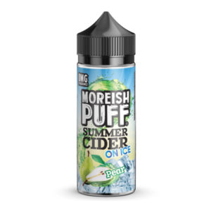 Pear Summer Cider On Ice 100ml eliquid Shortfill Fles door Moreish poef