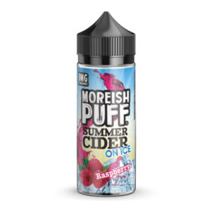 Raspberry Summer Cider On Ice 100ml Eliquid Shortfill бутилка от Moreish облаче