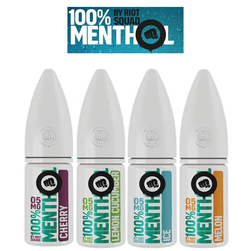 Riot Squad E-Liquides 100% Menthol Nic Salt