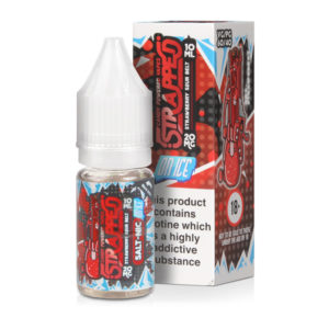 Strawberry Sour Belt On Ice Nicotine Salt Eliquid Bottle With Box By Strapped Salt Nic