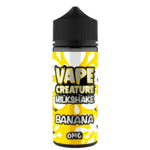 Banana Milkshake 100ml Eliquid Shortfills By Vape Creature Milkshake