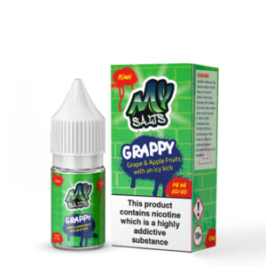 My Salts Grappy Nicotine Salt Eliquid 10ml Garrafa Com Caixa
