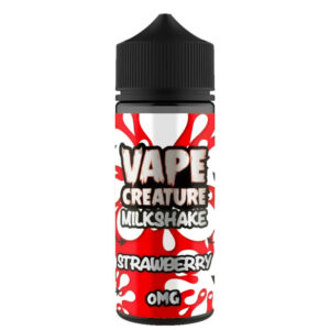 Strawberry Milkshake 100ml Eliquid Shortfills By Vape Creature Milkshake