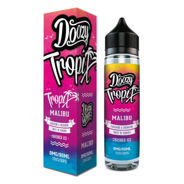 Doozy Tropix Malibu 50ml Eliquid Shortfill Bottle With Box By Doozy Vape Co