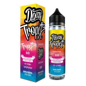 Doozy Tropix Rio 50ml Eliquid Shortfill flaska með kassa frá Doozy Vape Co