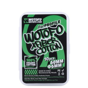 Wotofo xfiber Profile Rda Agleted Cotton 60mm Length
