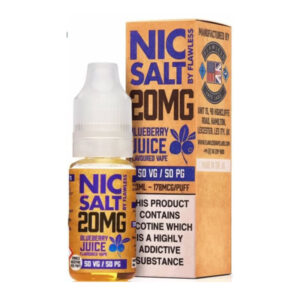 Blueberry Juice Nic Salt By Flawless 10ml Nicotine Salt Eliquid Bottle With Box