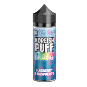 E-liquide Blueberry & Framboise Shortfill By Moreish Fruits soufflés