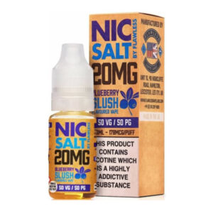 Blueberry Slush Nic Salt By Flawless 10ml Nikótínsalt fljótandi flöska með kassa