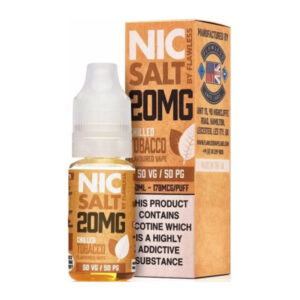 Chilled Tobacco Nic Salt By Flawless 10ml Nicotine Salt Eliquid Μπουκάλι με κουτί
