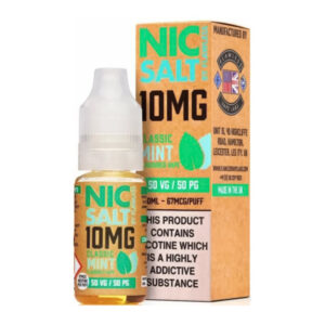 Classic Mint Nic Salt By Flawless 10ml Nicotine Salt Eliquid Bottle With Box