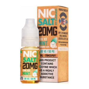 Cool Ice Mint Nic Salt By Flawless 10ml Nicotine Salt Eliquid Bottle With Box