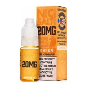 Манго Supreme Nic Salt от безупречна 10ml бутилка за никотинова сол с кутия