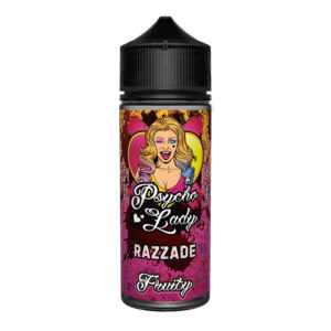 Razzade 100ml Eliquid Shortfill Flaska eftir Psycho Lady Fruity