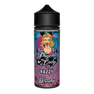 Flacon Razzy 100 ml Eliquid Shortfill par Psycho Lady Slushy