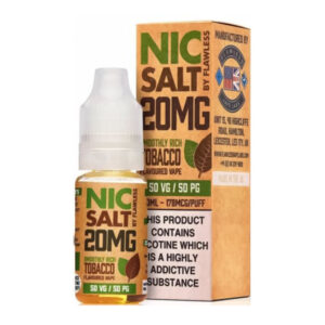 Smoothly Rich Tobacco Nic Salt By Flawless 10ml Nicotine Salt Eliquid Bottle With Box