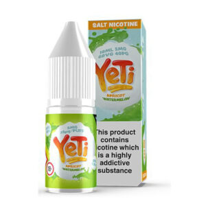 Yeti Apricot Watermelon Salt Nicotine Eliquid 10ml Bottle With Box