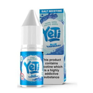 Yeti Blue Raspberry Salt Nikotin Eliquid 10 ml flaska med låda