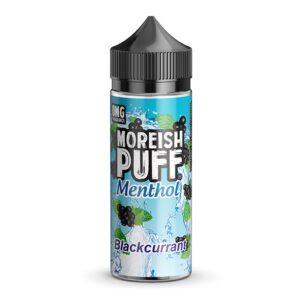 Moreish Puff Menthol Blackcurrant 100ml Eliquid Shortfill Bottle