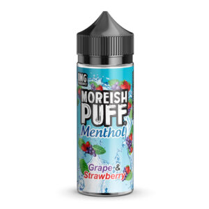 Moreish Sug Menthol Grape Strawberry 100ml Eliquid Shortfill Flaske