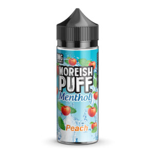 Moreish Puff Menthol Ferskja 100ml Eliquid Shortfill flaska