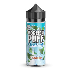 Moreish Puff Menthol Tobacco 100ml fljótandi Shortfill Flaska