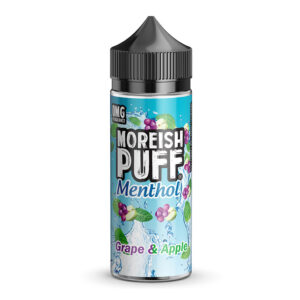 Moreish Puff Menthol Grape Apple 100ml Bouteille Eliquid Shortfill