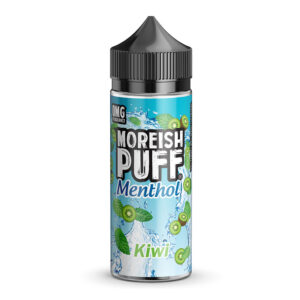 Moreish Bouteille Eliquid Shortfill 100ml Menthol Kiwi Puff