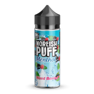 Moreish Puff Mentol Mixed Berries 100ml Eliquid Shortfill Botella