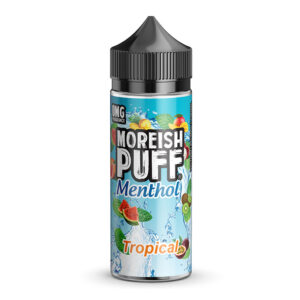 Moreish Puff Menthol Tropical 100ml eliquid Shortfill Fles