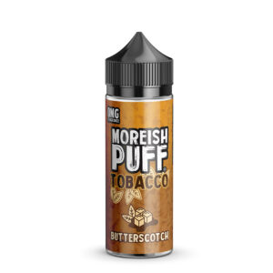 Moreish Puff Tobacco Eliquid Butterscotch 100ml Shortfill Botella