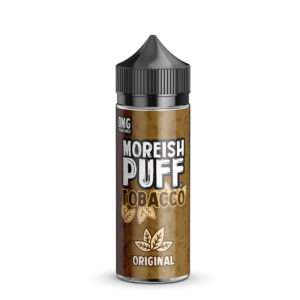 Moreish Puff Tobacco Eliquid 100ml original Shortfill Botella