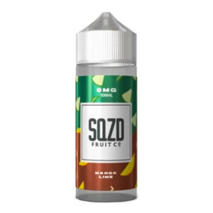 Sqzd Mango Lime 100 ml Eliquid Shortfill Bottle