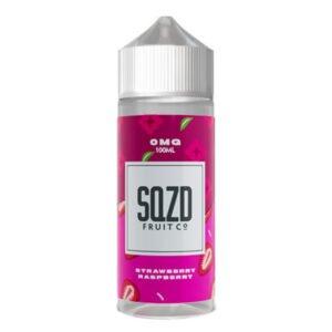 E-líquido morango e framboesa Shortfill Por Sqzd Fruit Co
