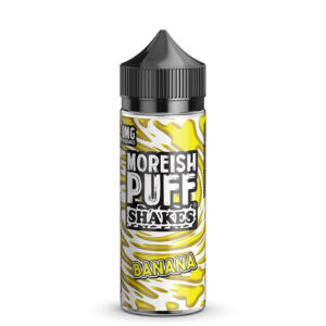 Moreish Puff Shakes Banana 100ml Eliquid Shortfill Frasco