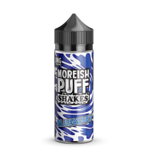 Moreish Puff Shakes Blåbær 100 ml Eliquid Shortfill Flaske