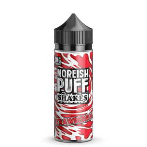 Moreish Puff Shakes Jordbær 100 ml Eliquid Shortfill Flaske