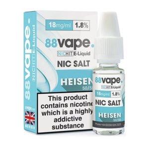 88vape Heisen Nicotine Salt Eliquid Fles Met Doos