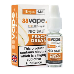 88vape Peach Dream Botella de eliquid de sal de nicotina con caja