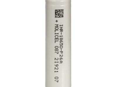 """Molicel P26a Inr 18650"" įkraunama ""Vape"" baterija 2600mah 25a"