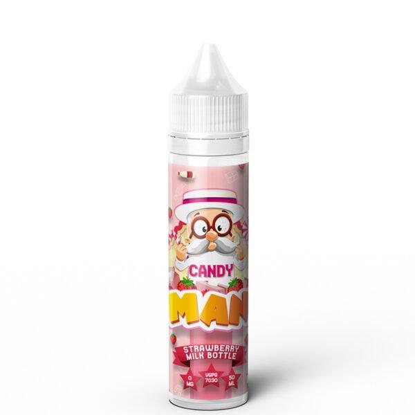 Aardbeimelkfles 50ml Eliquid Shortfill Fles door Dr Frost Candy man