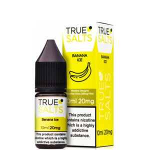 Banana Ice 10ml Nic Salt Eliquid fles met doos van True Salts