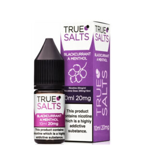 Blackcurrant A Menthol 10ml Nic Salt Eliquid fles met doos van True Salts