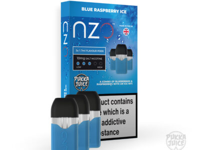 Blue Raspberry Ice Nzo Pukka Juice Prefilled Pods