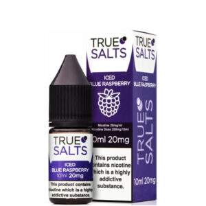 Iced Blue Raspberry 10ml Nic Salt Eliquid fles met doos van True Salts