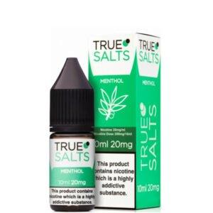 Menthol 10ml Nic Salt Eliquid fles met doos van True Salts